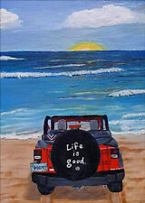 Full Drill DIY Beach Car 5D Diamond Painting Cross Stitch Hand Embroidery Crafts