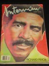 INTERVIEW magazine 1986, Richard Pryor, Oprah Winfrey Debuts, Laura Dern, RARE