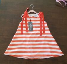 Garb Team Youth Girls Summer Dress. Orange  and white.  Small / petite. Age 5-6