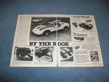 "1984 Bradley GT Special Edition Kit Car Vintage Article ""By the Book"""