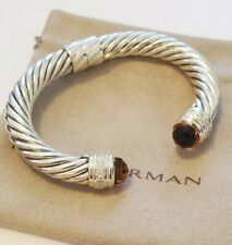 David Yurman Sterling Silver 10mm Classic Bracelet Citrine & Diamonds