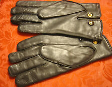 Gents Vintage Soft Black Real Leather Gloves by Dents Size Nine and a Half