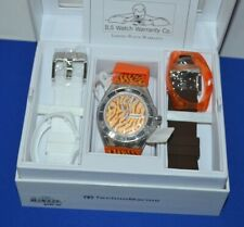 NEW TechnoMarine 114011 Women's Limited Cruise Bengal Tiger Cat Changable Watch