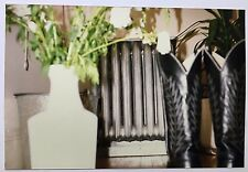 Vintage 90s  PHOTO Heater Hidden Behind Potted Plant and Boots