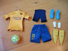 1/6th ZCWO FCBarcelona 2015/16 Lionel Messi Away Kit clothing set with football