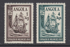 Angola Sc 325-326 MLH. 1949 Sailing Ship, cplt set, LH, VF