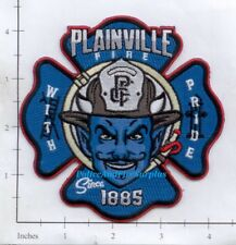 Connecticut - Plainville CT Fire Dept Patch - With Pride - Blue Genie