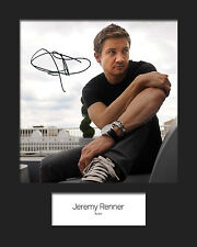JEREMY RENNER #1 Signed Photo Print 10x8 Mounted Photo Print - FREE DELIVERY