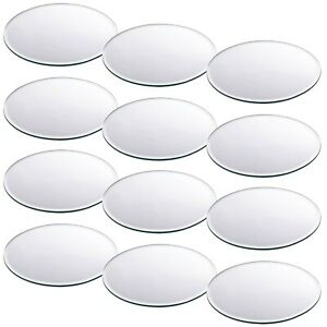 2 6 12 20cm Glass Round Mirror Plates Cake Tray Table Candle Wedding Centerpiece