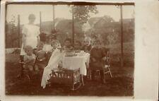 Photo carte goûter d'anniversaire enfants berceau jouet gateau poussette 1925