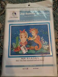 Joy Sunday The Little Mermaid And Sea Horse Cross Stitch Kit