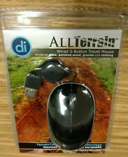 Digital Innovations AllTerrain Wired 3-Button Travel Mouse (4230900)- New in Box