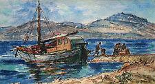 "Karl Heinz Heuner 1914-1982 Düsseldorf / Aquarell ""Insel Jadrija"" 1963 Kroatien"