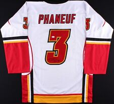 DION PHANEUF SIGNED AUTO CALGARY FLAMES JERSEY JSA