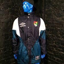 Bolivia Vintage Padded Jacket With Zipped Umbro Training Big Logo Mens Size M