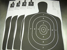 120 Black Silhouette hand gun and rifle paper shooting targets 11X17