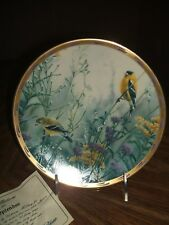 Lenox Golden Splendor Plate Goldfinch Birds 1992