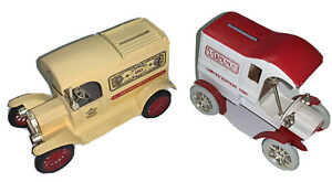 1 Lot of 2 Ford Delivery Die Cast Banks