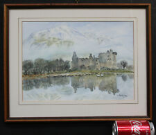 Impressionist Painting Landscape Kilchurn Castle Loch Awe Scotland I Taufauss