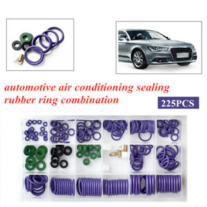 225PCS Automotive Air Conditioning Sealing Rubber Ring Combination Trim Repair