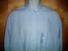Chaps 17 1/2 & 36 - 37 Dress Shirt Hampton Blue Regular Fit Shorter Hem Mens