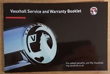 GENUINE VAUXHALL SERVICE BOOK FOR PETROL AND DIESEL NO DUPLICATE 2017 #H 999
