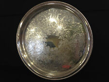 Antique Silver Plated 15 inch Galley Tray Wm. Rogers