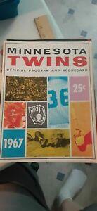 1967 Minnesota Twins Program vs New York Yankees, 1992 vs Oakland + more 4 items