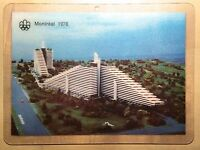 Quebec Montreal 1976 Olympic Village Plastic Postcard Cheap Same Price As 1976