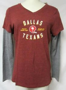 Touch by Alyssa Milano Dallas Texans Size L Long Sleeve Layered Look Tee A1 3316