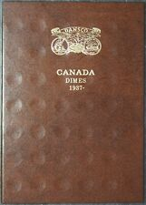 Canada Dime 10 Ten Cents Dansco Canadian Coin Album Folder NEW UNUSED 1937-1986