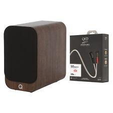 New listing Q Acoustics 3010i Bookshelf Speakers (Walnut) + Qed Silver Anniversary Xt Cables