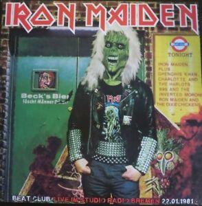 IRON MAIDEN-Beat Club Live Im Studio Radio Bremen 22.01.1981 2LP Blue Vinyl