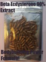 Beta Ecdysterone Extract 90% 100 Capsules Cyanotis Arachnoidea Extract Miron Jar