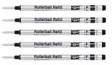 5 - MONTBLANC GENUINE Rollerball Pen Refills - BLACK FINE - bulk packed