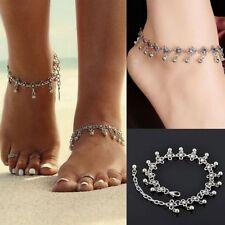 Femmes Bracelet De Cheville Argent Chaîne En Perles Cheville Pieds Nus