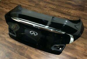 2007-2015 Infiniti G37 G25 G35 Q40 Sedan Rear Trunk Lid Black OEM W/O Camera