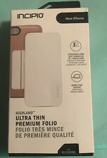 Incipio Highland iPhone 6s iPhone 6 Folio Card Wallet Case w/Stand Cover - White