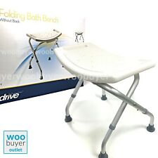 Folding Aluminium Bath Shower Seat Bench Stool Chair Adjustable Height Mobility