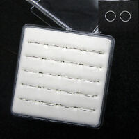 Wholesale 20Pcs 925 Solid Silver Nose Open Hoop Lip Ring Body Jewelry 22 Gauge