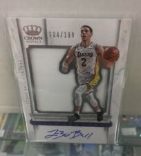 2017-18 Crown Royale LONZO BALL Rookie Silhouette Patch Auto #183/199 LAKERS SP