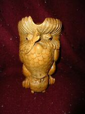 Antique German elaborately Wooden carved Owl