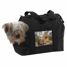 Small Dog Travel Bag Microfiber Show N Tell Pet Bag Carrier Black Dog Purse