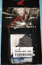 2 plaquettes de frein arrière HONDA XL 700 V TRANSALP 2008/2011 06435-MFF-405