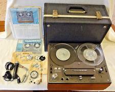 Vintage Tandberg 12-41 Reel To Reel Tape Recorder w/ Original Mic, Case & Manual