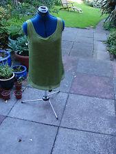 worn twice, size M (12-14) Sioni green knit long tank style sleeveless top
