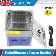 2L Digital Ultrasonic Cleaner Ultra Sonic Bath Jewellery Watch Wave Cleaning