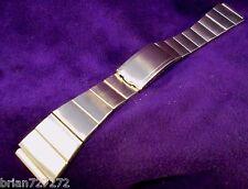 1970s Duchess USA 19MM~10K Yellow GF & SS~Watch Band Bracelet- Lightly Used