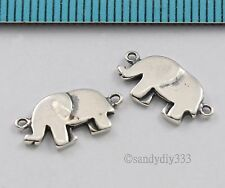 2x STERLING SILVER ELEPHANT LINK CONNECTOR SPACER BEADS 12.5mm 7.5mm #2797