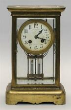 Brass-Cased Shelf Clock With French circular works and porcelain Arabi. Lot 10